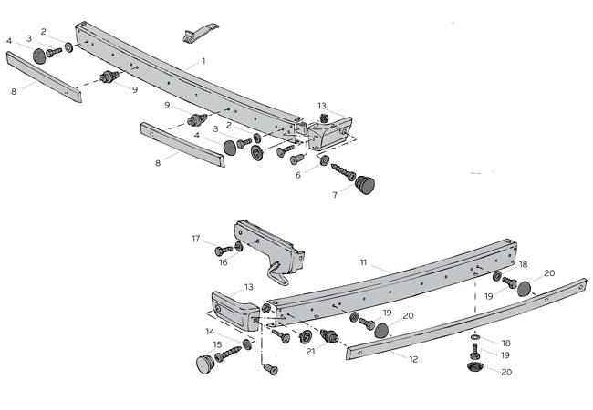 Pare-chocs & accessoires - VW Transporter T25/T3