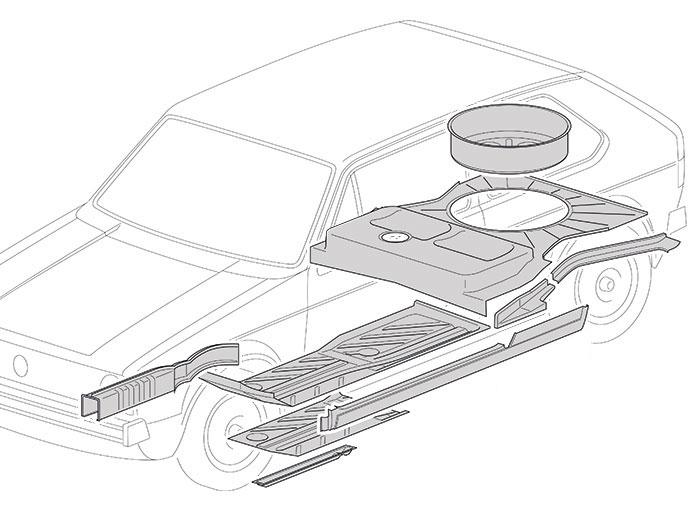 Châssis Golf 1 de 1974-83