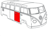 Tole Reparation porte lateral Vw Bus 50->67