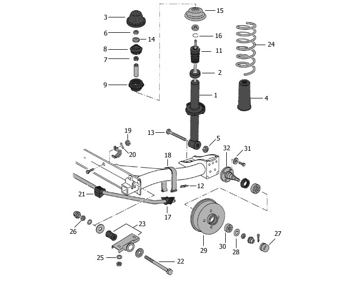 Suspension Arriere Vw Golf1