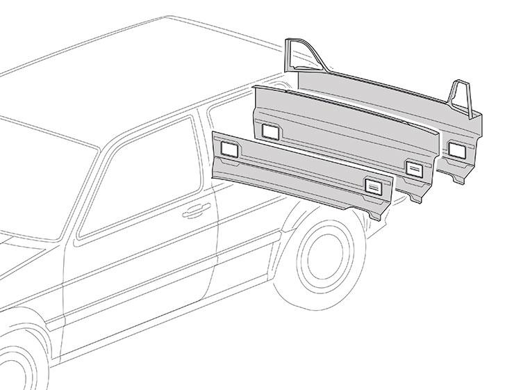 Panneaux arrrieres  - VW Golf 2 1983-1992