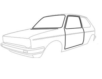 Joints de portes Golf 1 de 1974-83