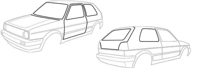 Joints de carrosserie - Golf 2