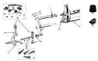 Fusée et bras  de suspension Vw Bus 50->67