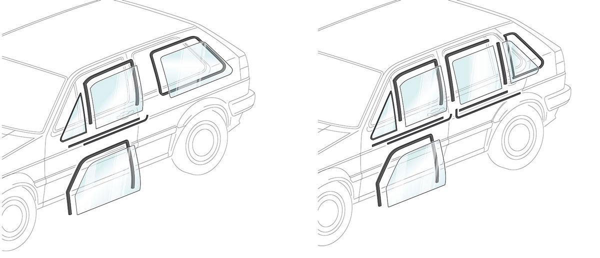 Joints de porte - VW Golf 2