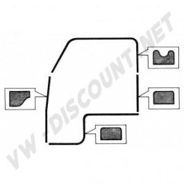 Kit joints de porte 4 pièces gauche ou droit Combi Split 1955-1967