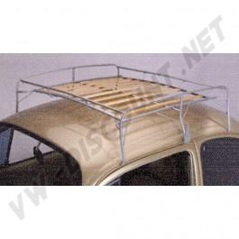 AC898B810 Galerie de toit métal et lattes en bois Coccinelle toutes années sauf cabriolet