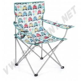 Chaise pliante avec accoudoirs et porte boisson Coccinelle | dream-machine.fr