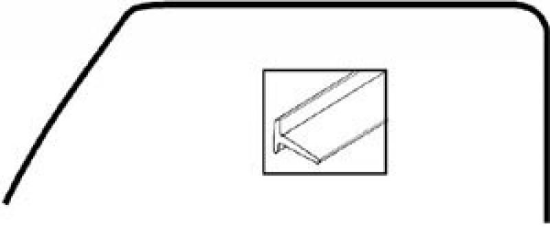 Joints tour de cadre haut de porte avant Combi 52->67 la paire 211837835A Sur www.vw-discount.net