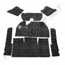 Kit moquette noir 7 pièces berline 8/59---->>7/68
