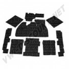 Kit moquette noir 9 pièces berline 08/72-->7/76
