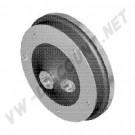 Tambour de frein avant 5 x 205 mm (la pièce) de 10/1957->7/1965 113405615A | dream-machine.fr