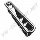 113819719 Grille de ventilation G + D 65-70 tableau de bord métal