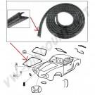 Joint de capot avant Karmann Ghia 56-74 141 827 705H 141827705H | Dream machine