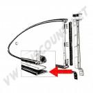 Joints entre caisse et cadres de Popout pour Karmann Ghia 60 ->73 143 853 343 143853343  | Dream machine