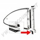 joints d'appui du montant vertical de pop-out arrière sur caisse 60-74 143 853 367 143853367  | Dream machine