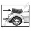 Couvre capote en alpaga noir coccinelle cabriolet 1972