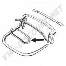 Cadre en bois de lunette arrière pour vitre Cox Cabriolet 62 ->74, les 4 pièces