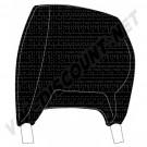 Housses d'appuie tête Combi 74-76 vinyl lisse noir la paire 211881921BK sur dream-machine.fr