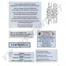 Kit de 7 autocollants Combi Westfalia 68-->79 211999WESTFALIA 211 999 WESTFALIA