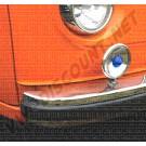 241707221E caoutchouc de pare choc avant, Deluxe 8/1972-7/1979