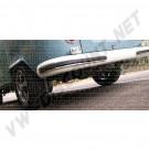 241798707Butoirs de pare chocs avant et arrière en aluminium polis avec caoutchouc noir, le kit de 4 8/1967-7/1972