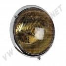Phare chromé complet avec verre jaune Coccinelle avant 1967 111941021A 111 941 021 A | Dream-Machine.fr