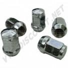 Set de 5 écrous de roues chromés à appui conique 14x1.5, tête 17mm
