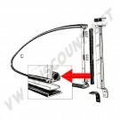Joints entre vitres et cadres de Popout pour Karmann Ghia 60->73 143 845 321B 143845321B | Dream machine
