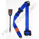 Ceinture de sécurité 3 points bleue à enrouleur, homologuée