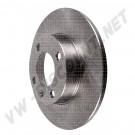 Disque de frein arrière (4x100) plein 226x10mm pour Golf 2 et 3 191615601A   191 615 601A | dream-machine.fr