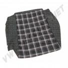 Housses  blanc/noir petits carreaux  pour assise de siege Golf 1