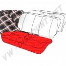 Housses  blanc/noir petits carreaux  pour assise de siege arriere Golf 1