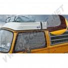 Moustiquaires de portes avant avec pourtour marron à aimanter à l'intérieur ou l'extérieur de la porte 8/1967-7/1979 la paire