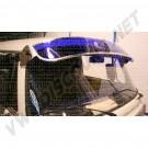 Casquette de pare brise, pare-soleil aluminium et plexiglass bleu 8/1967-7/1979