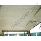 Ciel de toit/garniture de pavillon/garniture de pavillon partie cabine en vinyle blanc cassé perforé de 8/1963 jusque 7/1979 2 baleines