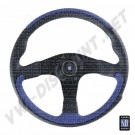 Volant, leader Nardi, Black & Blue en cuir,