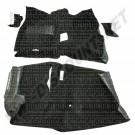 Moquette avant et arrière thermoformées pour Golf 1 Cabriolet Coloris noir