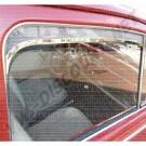 Déflecteur de vitre de porte en chrome pour Coccinelle après 1965, la paire