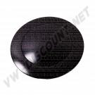 Bouton de klaxon noir, modèle large pour moyeu SSP 9 vis