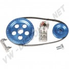 AC903001 Kit poulie serpentin Scat alu bleu