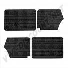 Kit 4 panneaux de porte noir avec vide poche cabriolet 67---->72 DM13393-1 | Dream-Machine.fr