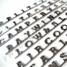 sigle logo en inox  poli avec finition effet mirror