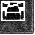 Kit moquette gris anthracite berline 73---->>78 sauf 1302/1303