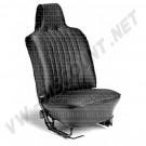 Housses de siège av + ar vinyl noir cabriolet 70-->72 avec appuie tête