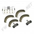 Kit frein ar 57-->7/64 Il est composé de: 4 garnitures 2 cylindres de roue 1 kit montage