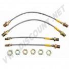 4 flexibles de frein renforcés T1 1302 - 1303