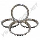 "Cercles de roue Inox 14"" les 4"