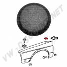 Cache trou d'antenne noir sur aile pour Golf 1 et Golf 2 443821169 443 821 169 | Dream-Machine.fr