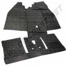 Tapis en caoutchouc avant et arrière noir 1973-1979